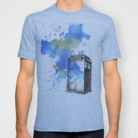 Doctor Who Tardis T-shirt by Idillard | Society6