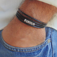Wood bracelet for men, mens turquoise bracelete, beaded bracelets, men's jewelry, surfer , beach bracelet, for guys, free shipping,brown