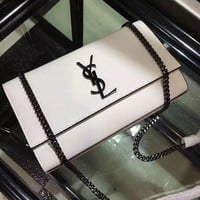YSL Women Shopping Fashion Leather Chain Satchel Shoulder Bag Crossbody-12