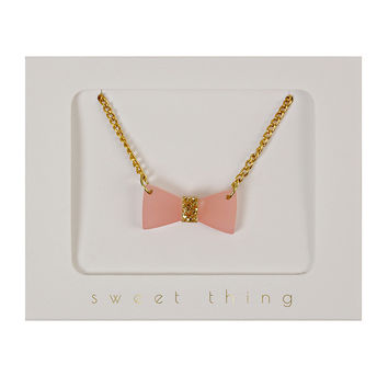 Glitter Bow Necklace