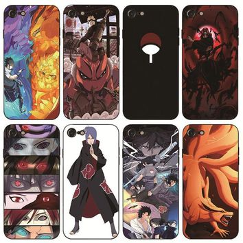 Naruto Sasauke ninja  Printed Soft Rubber Phone Cases For iPhone 8 8plus X10 6 6S Plus 7 7 Plus 5 5S 5C SE 4S Back Cover Shell AT_81_8