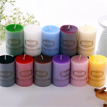 Candlestick Candle Holders Wedding Decoration Candlestick Blugie Parfum Home Decor Wick Aroma Candle Decorative Ddz238