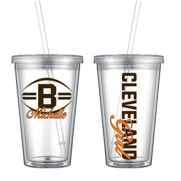 Browns Acrylic Cup - Free Shipping