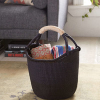 Vintage Indigo Dipped Basket - Urban Outfitters
