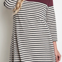 Between The Lines Tunic (Plus Size)