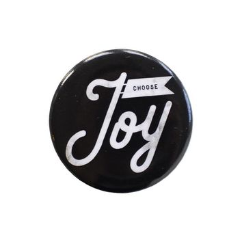 Choose Joy Black Button