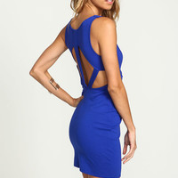 ROYAL CAGE CUT OUT BODYCON DRESS