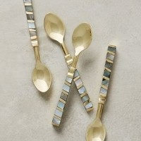 Mother-Of-Pearl Small Spoons by Anthropologie in Light Grey Size: Spoons Kitchen