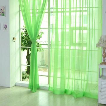 Window Curtain Bedroom Cheap Ready Made Finished Organza Child Window Cortina Curtain for Living Room wedding Home Decor