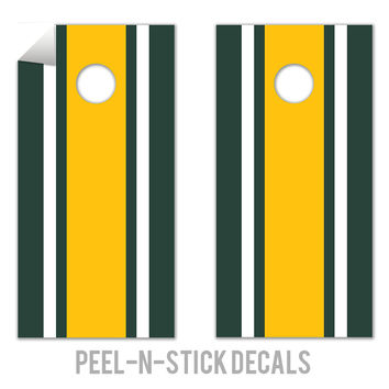 Classic Stripe - Green, White, Yellow Decals