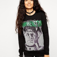 ASOS | ASOS Sweatshirt With Frankenstein Halloween Print at ASOS