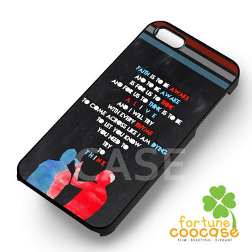 Twenty One Pilots Band Quotes Phone Case -edd for iPhone 4/4S/5/5S/5C/6/ 6+,samsung S3/S4/S5/S6 Regular/S6 Edge,samsung note 3/4