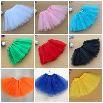 Baby Kids Girl Ballet Tutu Princess Dress Dance Wear Skirt Pettiskirt Costume for most kids age 3-7 years candy colors = 1704349700