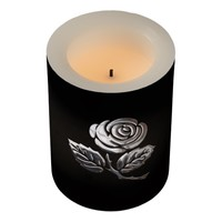 Silver Rose Flameless Candle