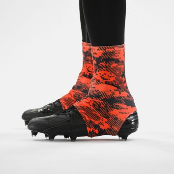 1151264743ec Digital Ultra Camo Orange-Red and Black Spats   Cleat Covers