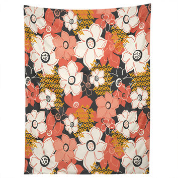 Heather Dutton Petals And Pods Lava Tapestry