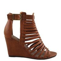 The Jaden Wedge Sandal - Tan