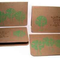 Recycled Card Set 4 Note Cards Eco Friendly Recycled by BeMyBee