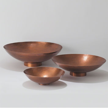 Indira Antique Copper Decorative Bowl - Medium by Global Views