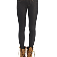 Faux Denim Jeggings | Wet Seal