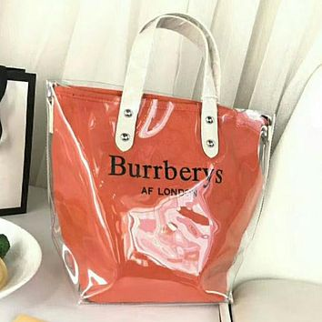 Burberrys Trending Women Stylish Shopping Satchel Shoulder Bag Handbag Tote Orange I-WXZ2H