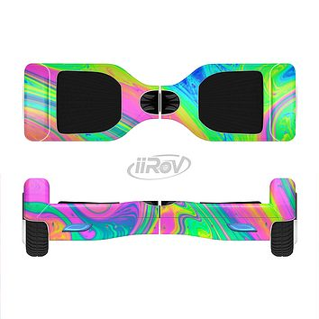 The Neon Color Fushion V3 Full-Body Skin Set for the Smart Drifting SuperCharged iiRov HoverBoard