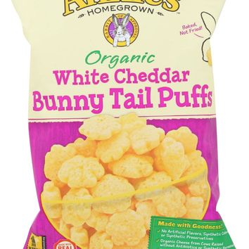 ANNIES HOMEGROWN: Organic White Cheddar Bunny Tail Puffs, 4.3 oz