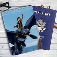 How To Train Your Dragon Riders of Berk Leather Passport Wallet Case Cover