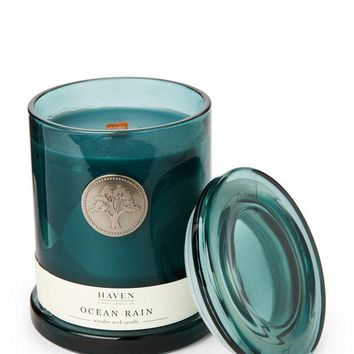 HAVEN STREET Ocean Rain Wooden Wick Candle