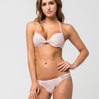 FULL TILT Solid Underwire Halter Bikini Top | Swim BOGO 50% Off