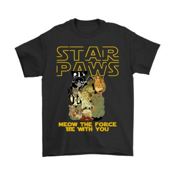 PEAPINY Star Paws Meow The Force Be With You Star Wars Shirts