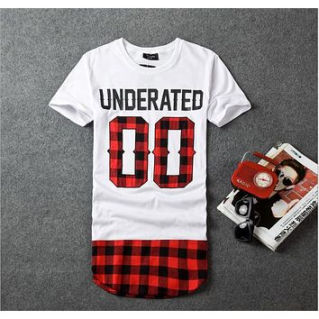 2016 UNDERATED Bandana Men's Extended Tee Shirts Men Skateboard Element t-shirt Hip Hop tshirt Streetwear Clothing