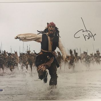 "Johnny Depp Signed Autographed ""Pirates of the Caribbean"" Glossy 11x14 Photo (PSA/DNA COA)"