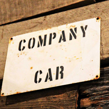 Stonewall Cotton Mill 'Company Car' Sign