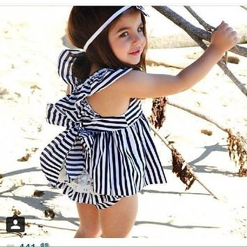 The spring and summer of 2017 new European trade dress baby sling 100% cotton shirt + short baby underwear briefs up tight trian