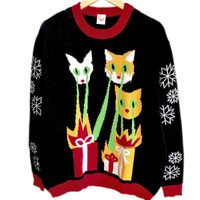 Laser Cats Ugly Christmas Sweater - The Ugly Sweater Shop