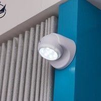 [TAIYI]DIY Screw-on Anywhere Portable 9SMD Wireless Motion Sensing Closet Cabinet LED Night Light Stairs Light Step Light Bar