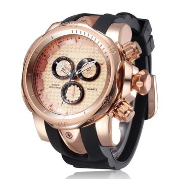 Cool 3D Big Face Watch with Silicone Strap