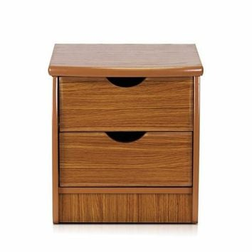 Furinno Simple Design Bedside 2-Drawer Chest, Cherry