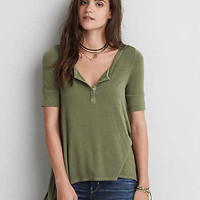 AEO Soft & Sexy Henley T-Shirt , Olive