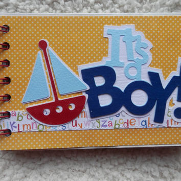 4x6  Baby Boy Chipboard Mini Scrapbook