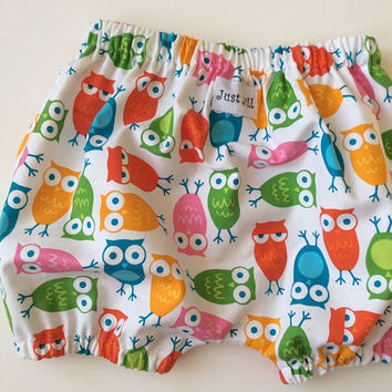 BLOOMERS BUBBLE SHORTS Urban Owls Girls Sizes 3 months - 6 yrs.