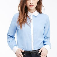 Colorblocked Collar Shirt