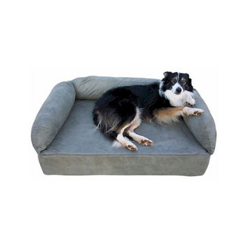 Snoozer Pet Dog Cat Puppy Indoor Comfortable Soft Quilted Luxury Memory Foam Sofa Sleeping Bed Large Hot Fudge