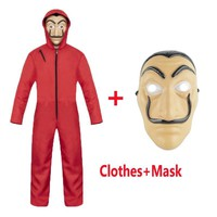 Cool Salvador Dali Cosplay Movie Mask Money Heist The House of Paper La Casa De Papel Cosplay Costume Face Mask for kids adultAT_93_12