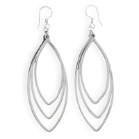 Graduated Marquise Drop Earrings
