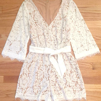 Feminine Summer Lace Party Romper