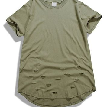 Extended Distressed T-Shirt