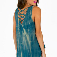 Caged Back Tie Dye Tank Top $29