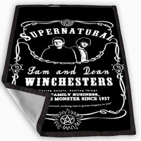 Supernatural whiskey Daniels Blanket for Kids Blanket, Fleece Blanket Cute and Awesome Blanket for your bedding, Blanket fleece *